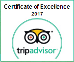 Trip Advisor - Certificate of Excellence. 2017